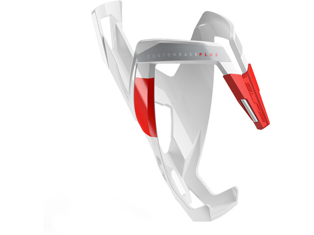 Elite Custom Race Plus Bottle Holder glossy white/red design